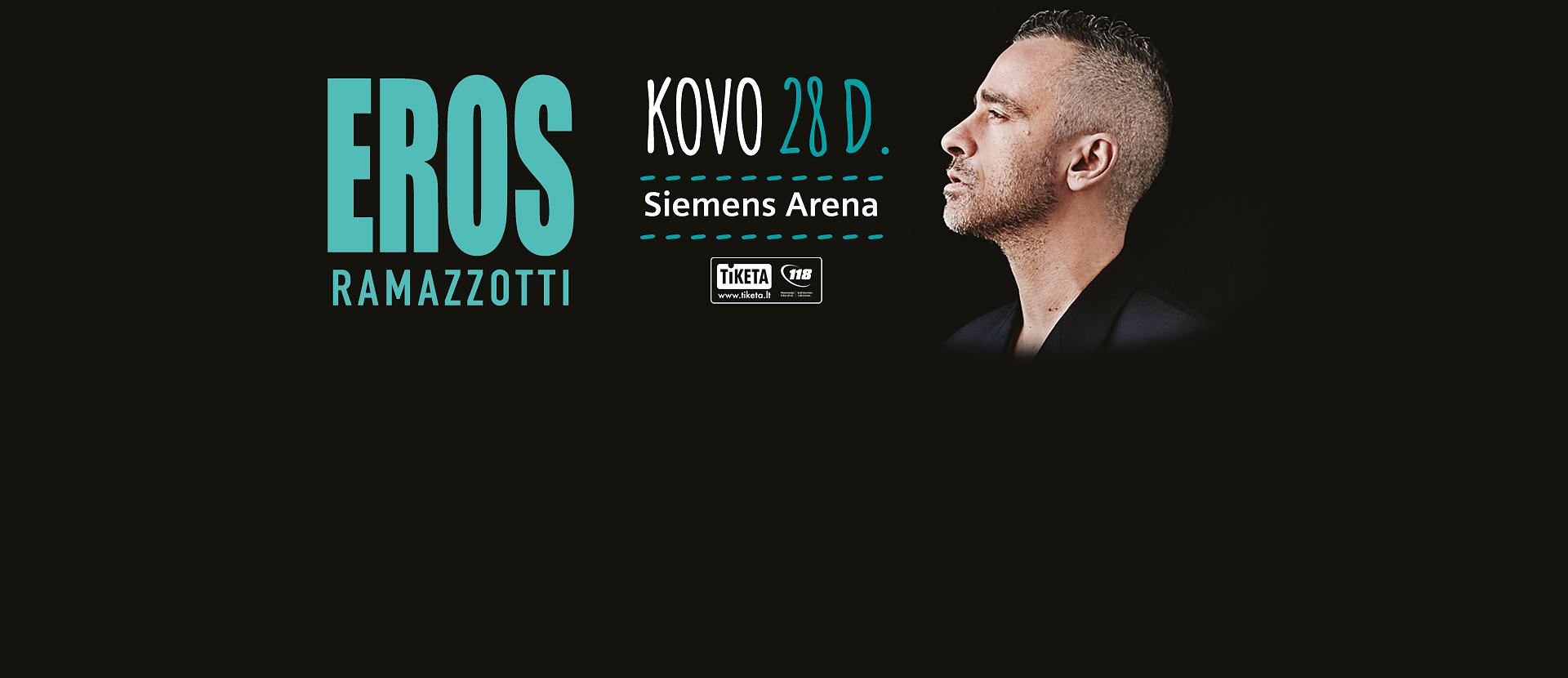 """Eros Ramazzotti turo """"Perfetto"""" koncertas"""