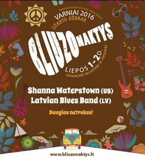 """Tarptautinis festivalis """"Bliuzo naktys 2016"""". Patogumo bilietas"""