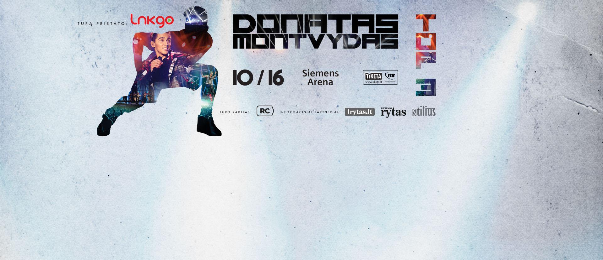 "Donato Montvydo koncertas ""TOP 3"""