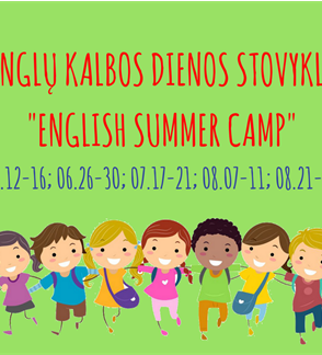 """Anglų kalbos dienos stovykla """"English Summer Camp"""""""