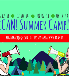 "Anglų kalbos stovykla ""iCAN! Summer Camp!"""