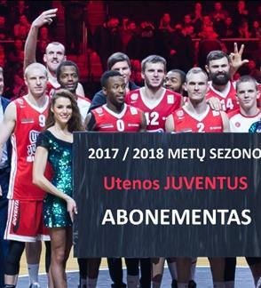 """Krepšinio klubo """"Juventus"""" 2017/2018 metų sezono abonementas"""
