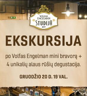 Eskursija ir degustacija Volfas Engelman Studijoje