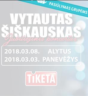 """Pasiūlymai grupėms: Vytautas Šiškauskas """"Gražiausi metai-geriausios dainos"""""""