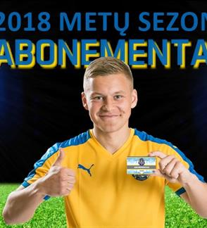 """Futbolo klubo Klaipėdos """"Atlantas"""" 2018 m. abonementas"""