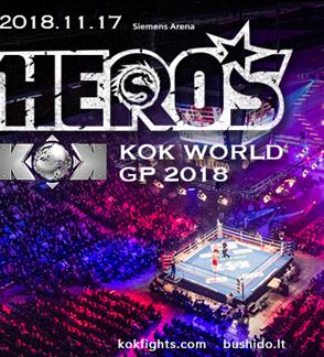 """Tarptautinis turnyras """"BUSHIDO HERO'S 2018 Vilnius"""" šou"""