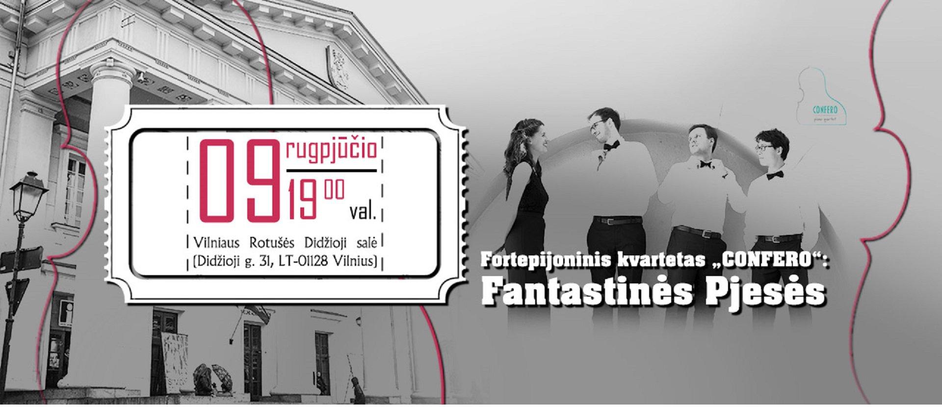 """Fortepijoninio kvarteto """"Confero"""" koncertas"""