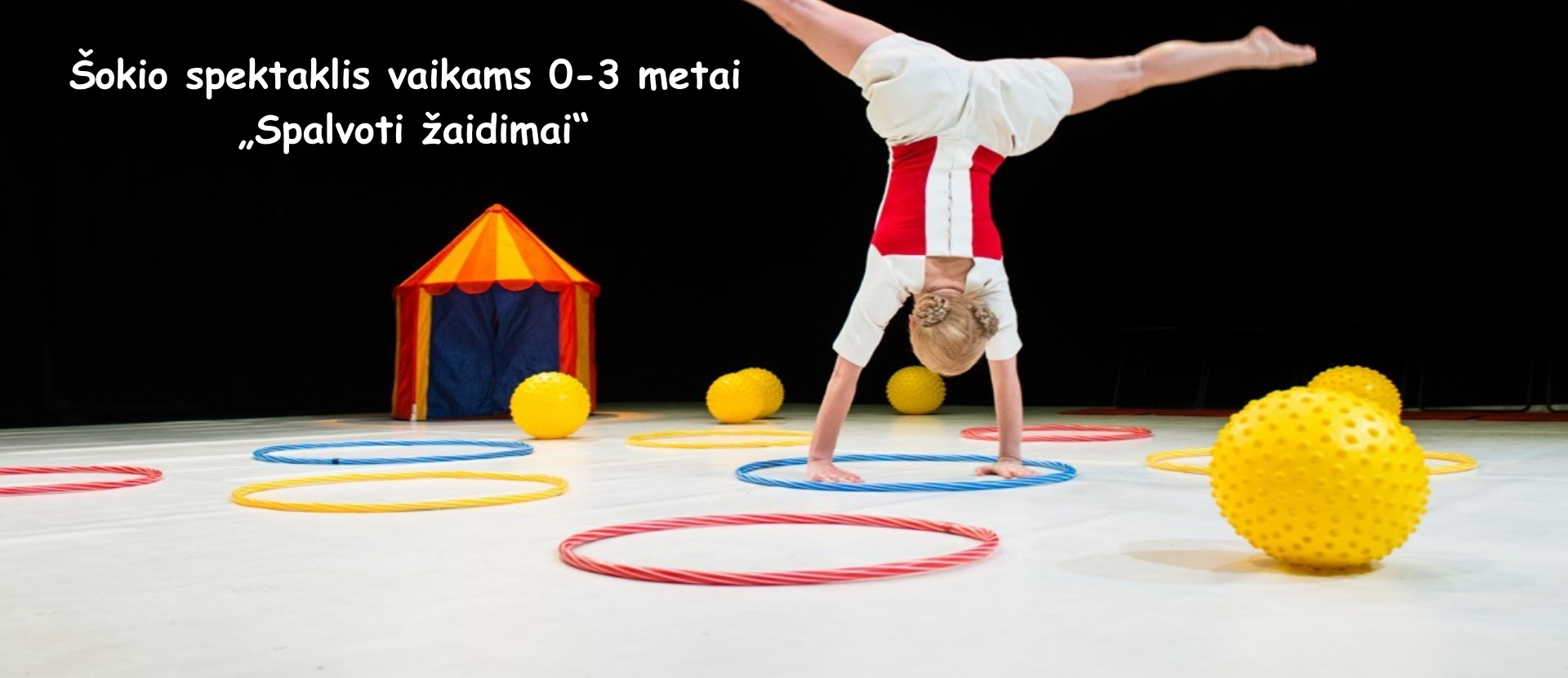 "Šokio teatras ""Dansema"" | Dance performance for children 0-3 years ""Colorful games"""