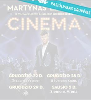 "Pasiūlymai grupėms: Martynas Levickis ""Cinema"""