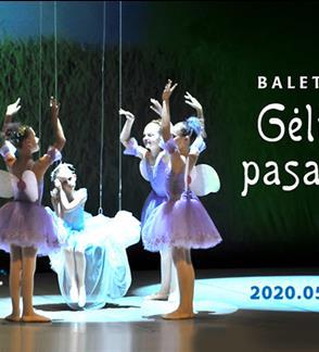 """Baleto mokyklos spektaklis """"Gėlių pasaka"""""""
