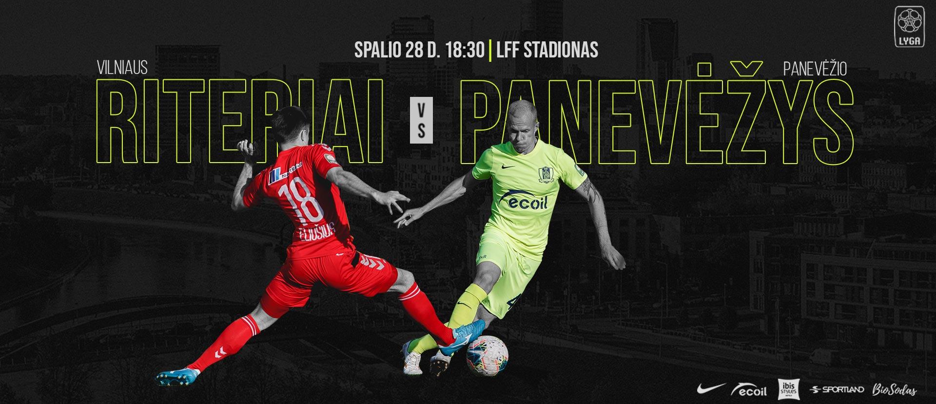 """Vilniaus """"Riteriai"""" futbolo klubo rungtynės A lygoje:"""