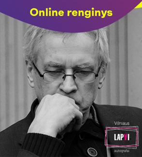 ONLINE: Vilniaus lapai. Vakaras su rašytoju Alvydu Šlepiku