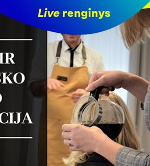 """LIVE: """"Lietuviška fika"""" - nuotolinė kavos ir lietuviško sūrio degustacija"""