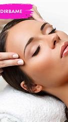 Facial massage-highlighting oval and lifting