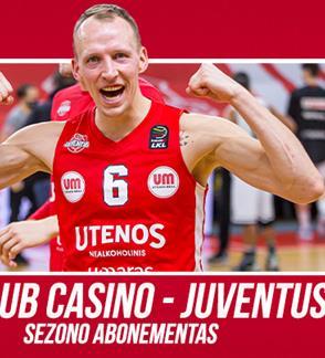"""Krepšinio klubo """"Juventus"""" 2021/2022 metų sezono abonementas"""